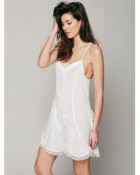 Free People | White Viscose Voile Slip | Lyst