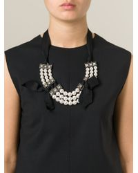 Lanvin | Black Pearl Necklace | Lyst