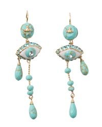 Vivienne Westwood | Blue Apollonia Earrings | Lyst