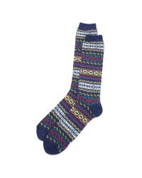 Anonymous Ism | Blue Fair Isle Crew Socks for Men | Lyst