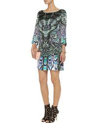 Just Cavalli   Black Printed Stretch-jersey Mini Dress   Lyst
