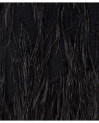 Elizabeth and James   Black Feather Detail Cotton Jumper   Lyst