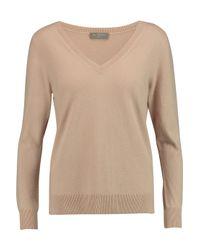 N.Peal Cashmere Brown Boyfriend Cashmere Sweater