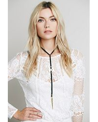 Free People - Black Coyote Negro Womens Rodeo Necklace - Lyst