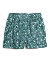 Brooks Brothers | Blue Slim Fit Penguin Print Boxers for Men | Lyst