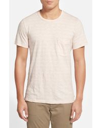 7 For All Mankind | Pink Stripe Pocket T-shirt for Men | Lyst