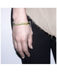 Alyssa Norton | Natural Khaki Multi Chain Bracelet | Lyst