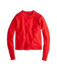 J.Crew Red Collection Cashmere Double-stitch Sweater