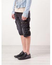 PRPS Black Cargo Shorts for men