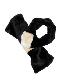 kate spade new york | Black Faux Fur Stole | Lyst