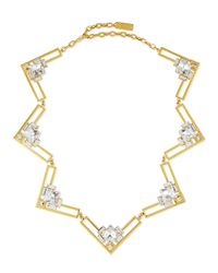 Auden | Metallic Harlow Crystal Collar Necklace | Lyst