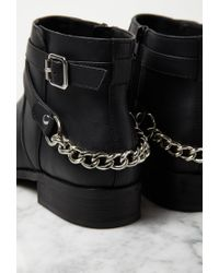 Forever 21 | Black Chained Strappy Faux Leather Booties You've Been Added To The Waitlist | Lyst