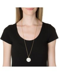 Asha | Metallic Zodiac Pave Pendant Necklace | Lyst