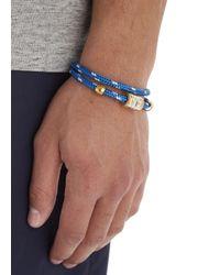 Miansai Blue Double Wrap Rope Bracelet for men