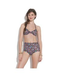 Madewell Multicolor Giejo™ Triangle Tie Bikini Top In Floral