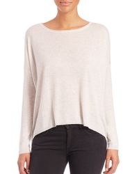 Splendid | White Hi-lo Long-sleeve Sweater | Lyst