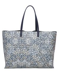 Tory Burch | Blue Large Herrington Printed Vinyl Tote Bag | Lyst