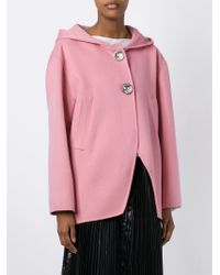 Marni | Pink Embellished Button Hooded Jacket | Lyst