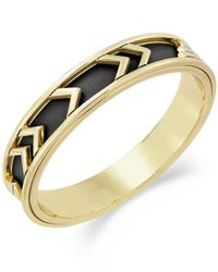 House of Harlow 1960 | 14k Gold-plated Black Leather Tribal Bangle Bracelet | Lyst