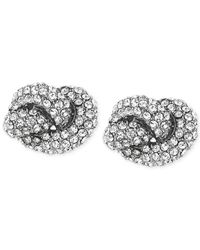 Michael Kors | Metallic Clear Knot Stud Earrings | Lyst