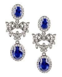 CZ by Kenneth Jay Lane | Blue Earrings | Lyst