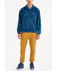 Patagonia Blue Synchilla Snap-t Fleece Pullover Jacket