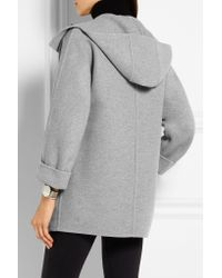 Burberry Brit - - Wool And Cashmere-blend Duffle Coat - Light Gray - Lyst