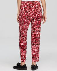 Weekend by Maxmara Red Pants - Nuccia Print