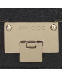 Jimmy Choo | Metallic Rebel Soft/s Black Washed Crinkled Leather Shoulder Bag | Lyst