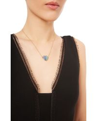 Katherine Jetter - Blue One Of A Kind White Heart Opal Necklace - Lyst