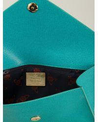 Vivienne Westwood - Blue Envelope Clutch - Lyst