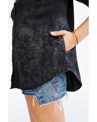BDG - Black Theo Flannel Shirt - Lyst