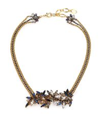 Erickson Beamon | Metallic Lady Of The Lake Crystal Triple-strand Necklace | Lyst