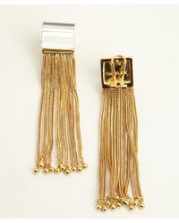 Rachel Zoe - Metallic Crystal And Gold Faceted Lucite Tassel Earrings - Lyst