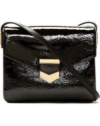 Time's Arrow - Black Patent Leather Sidra Shoulder Bag - Lyst