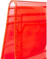 ASOS Orange Clear Travel Card Holder