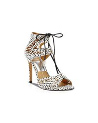 Dolce Vita Black Open Toe Ghillie Lace Up Sandals - Henlie High Heel