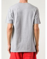 Stussy Gray 'No. 4' T-Shirt for men