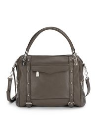 Rebecca Minkoff - Gray Cupid Leather Satchel - Lyst