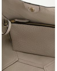 Burberry Brit - Gray Textured Calf-Leather Tote - Lyst