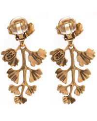 Oscar de la Renta - Metallic Gold-plated Fern Earrings - Lyst