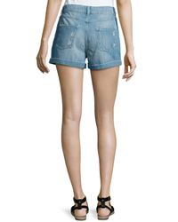 Étoile Isabel Marant - Blue Peter Cuffed Denim Shorts - Lyst