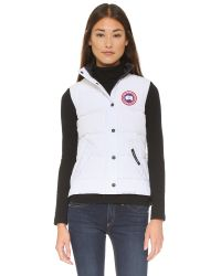 Canada Goose White Freestyle Vest