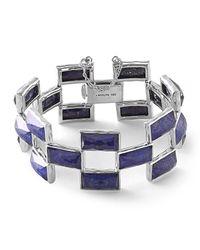 Ippolita Blue 925 Rock Candy Lapis Doublet Mosaic Bracelet