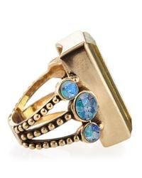 Stephen Dweck - Metallic Lemon Quartz Opal Mosaic Bead Ring - Lyst