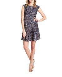 Cece by Cynthia Steffe - Gray Lacey V-back Dress - Lyst