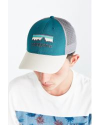 Patagonia White Line Logo Lo-pro Trucker Hat for men