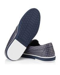 Jimmy Choo - Black Sloane Men's Diamond-print Loafer for Men - Lyst