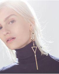Zara | Yellow Geometric Earrings | Lyst