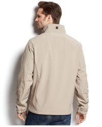 Calvin Klein - Brown Full-zip Softshell Jacket for Men - Lyst